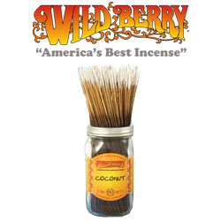 Coconut Incense Sticks by Wild Berry Incense