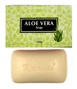 Kamini Soap - Aloe Vera Soap - 100g, 12/Box