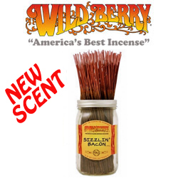 Sizzlin Bacon Incense Sticks by Wild Berry Incense