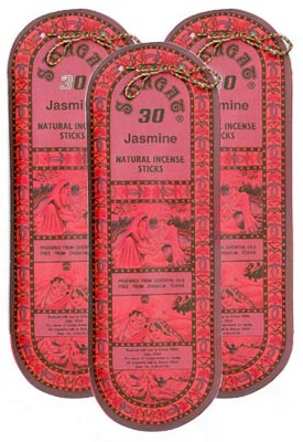 Swagat Jasmine Incense, 6 25-Stick Packs