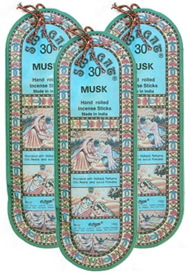 Swagat Musk Incense, 6 25-Stick Packs