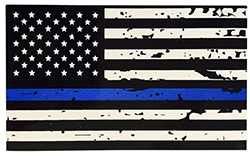"Thin Blue Line Reflective 3M Decal (4.25"" x 2.5"")"