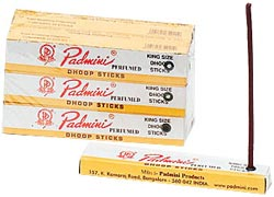 "Padmini Dhoop Incense 5"" King Size 10 Sticks/Box, 12 Boxes/Pack"