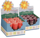 Power Crystal Journey Herbal Magic Votive Candles [ Box of 18 ]