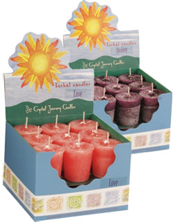 Motivation Crystal Journey Herbal Magic Votive Candles [ Box of 18 ]
