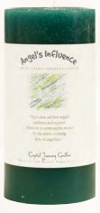 Crystal Journey Herbal Magic Pillar Candle 3X6 - Angel's Influence