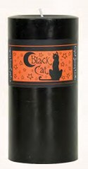 Crystal Journey Herbal Magic Pillar Candle 3X6 - Black Cat