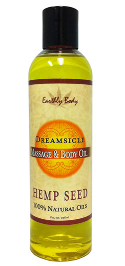 Earthly Body Massage & Body Oil - Dreamsicle (Tangerine Plum) 8 oz.