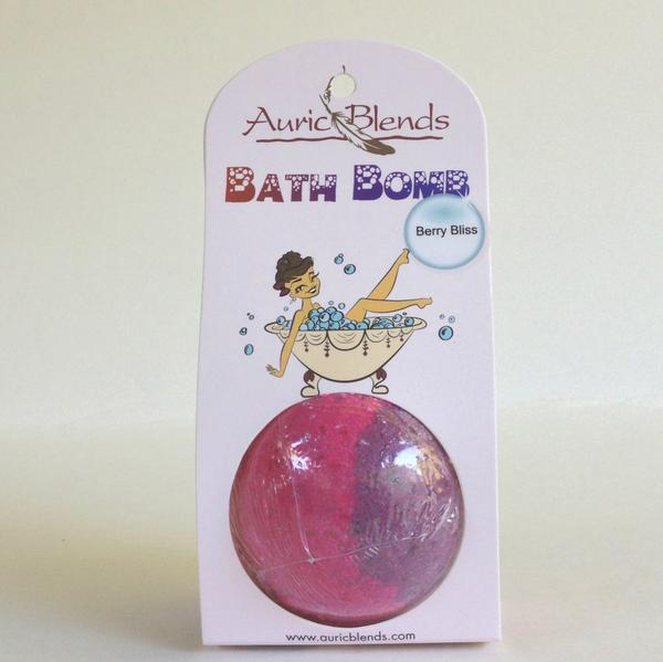 Auric Blends Bath Bomb  (Berry Bliss) - [6/Box]