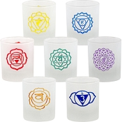 Votive Holder - Etched Chakras 7pc Set