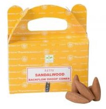 Satya Backflow Cones - Sandalwood - [6/BOX]