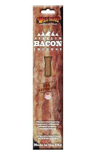 Sizzlin Bacon Incense Sticks by Wild Berry Incense  15 Stick Pack