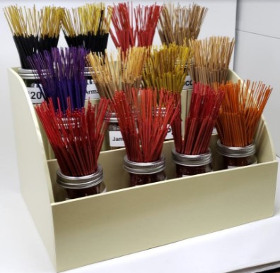 House Brand Incense Display - Tropical Assortment (24 - 100 Gram Bundles)