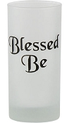 Candle Holder - Pillar Candle Holder 'Blessed Be'