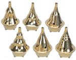 Brass Cone Incense Burner -  3.5''