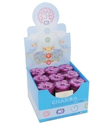 Crystal Journey Chakra Votive Candles - Heart [ Box of 18 ]