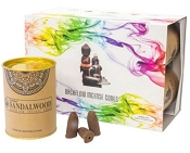 Goloka Backflow Incense Cones - Sandalwood - (6 Pack)