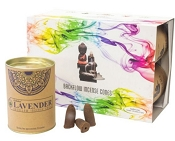 Goloka Backflow Incense Cones - Lavender - (6 Pack)