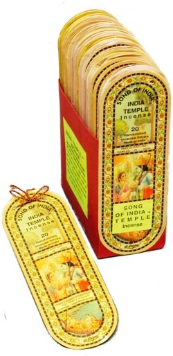 Song of India Temple Incense, 36 25-Stick Packs