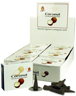 Kamini Cones - Coconut I- 10 cones/box - Case of 12