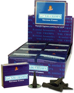 Kamini Cones - Nag Champa - 10 cones/box - Case of 12