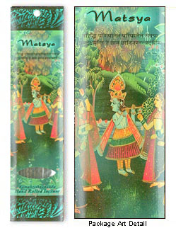 Prabhuji's Gifts Incense - Matsya (10 Sticks; Jasmine, Rose & Tulsi)