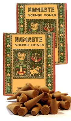 Namaste Lotus Incense Cones, 6 16-Cone Boxes