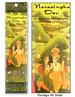 Prabhuji's Gifts Incense - Narasingha Dev (10 Sticks; Frankincense Champa)