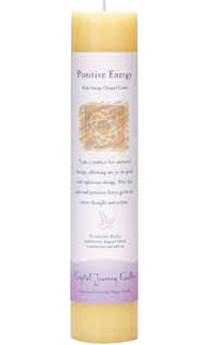 Crystal Journey Herbal Magic Pillar Candle - Positive Energy