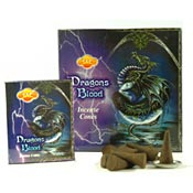 Sandesh (SAC) Incense Cones - Dragon's Blood - 10 Cones & Metal Burner - 12/Box