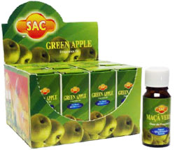 Sandesh (SAC) Aroma Oil 10ml - 1/3 Fl. Oz. (12/Box) - Green Apple