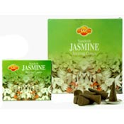 Sandesh (SAC) Incense Cones - Jasmine - 10 Cones & Metal Burner - 12/Box