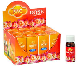 Sandesh (SAC) Aroma Oil  10ml - 1/3 Fl. Oz. (12/Box) - Rose