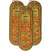 Swagat Amber Incense, 6 25-Stick Packs
