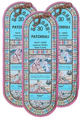 Swagat Patchouli Incense, 6 25-Stick Packs,