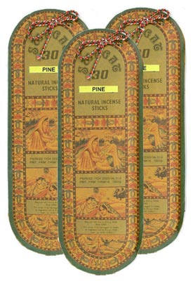 Swagat Pine Incense, 6 25-Stick Packs