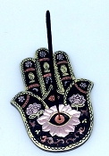 Black/Gold Hamsa Hand Incense Burner