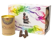 Goloka Backflow Incense Cones - Chakras - (6 Pack)