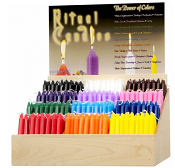 Mini Ritual Candle Display - (12 Colors, 40 each)