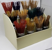 House Brand Incense Display - Popular Assortment (24 - 100 Gram Bundles)