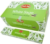 HEM  Masala Incense White Sage - 15 Gram Box [12/Box]