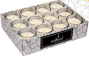 Ampliscent Votive Candles - Chocolate & Red Apple - [12 Pack]
