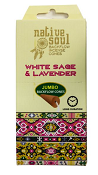 Green Tea - Jumbo Backflow Incense Cones - White Sage & Lavender - [Box/12]