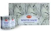Hem Backflow Cones - White Sage - 40 Cones - (12/Box)