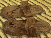 Light Tan Unisex Water Buffalo Hippie Jesus Sandals