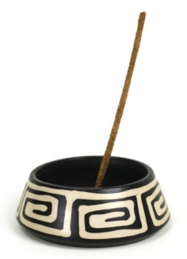 Stone Burner - Peruvian Ceramic Bowl (With Andean Herb Incense)