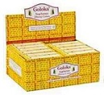 Goloka Incense Cones - Nag Champa - 10 Cone Packs [ 12/BOX ]